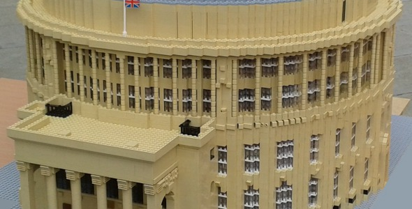 Photo of Central Library in LEGO